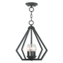 Livex Lighting 40923-07 - 3 Light BZ Mini Chandelier/Ceiling Mount