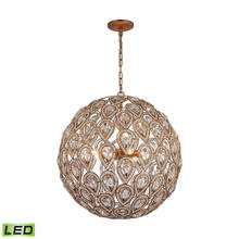 ELK Lighting 11936/8-LED - Evolve 8-Light Chandelier in Matte Gold with Clear Crystal - Includes LED Bulbs