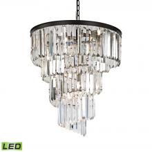 ELK Lighting 14218/9-LED - Palacial 9-Light Chandelier in Oil Rubbed Bronze with Clear Crystal - Includes LED Bulbs