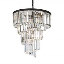 ELK Lighting 14218/9 - Palacial 9-Light Chandelier in Oil Rubbed Bronze with Clear Crystal
