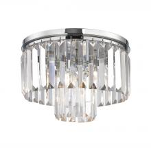 ELK Lighting 15213/1 - Palacial 1-Light Flush Mount in Polished Chrome with Clear Crystal